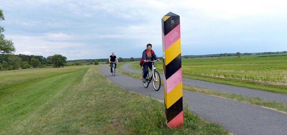 Auf dem Oder- Neiße- Radweg, Foto: D.Weirauch