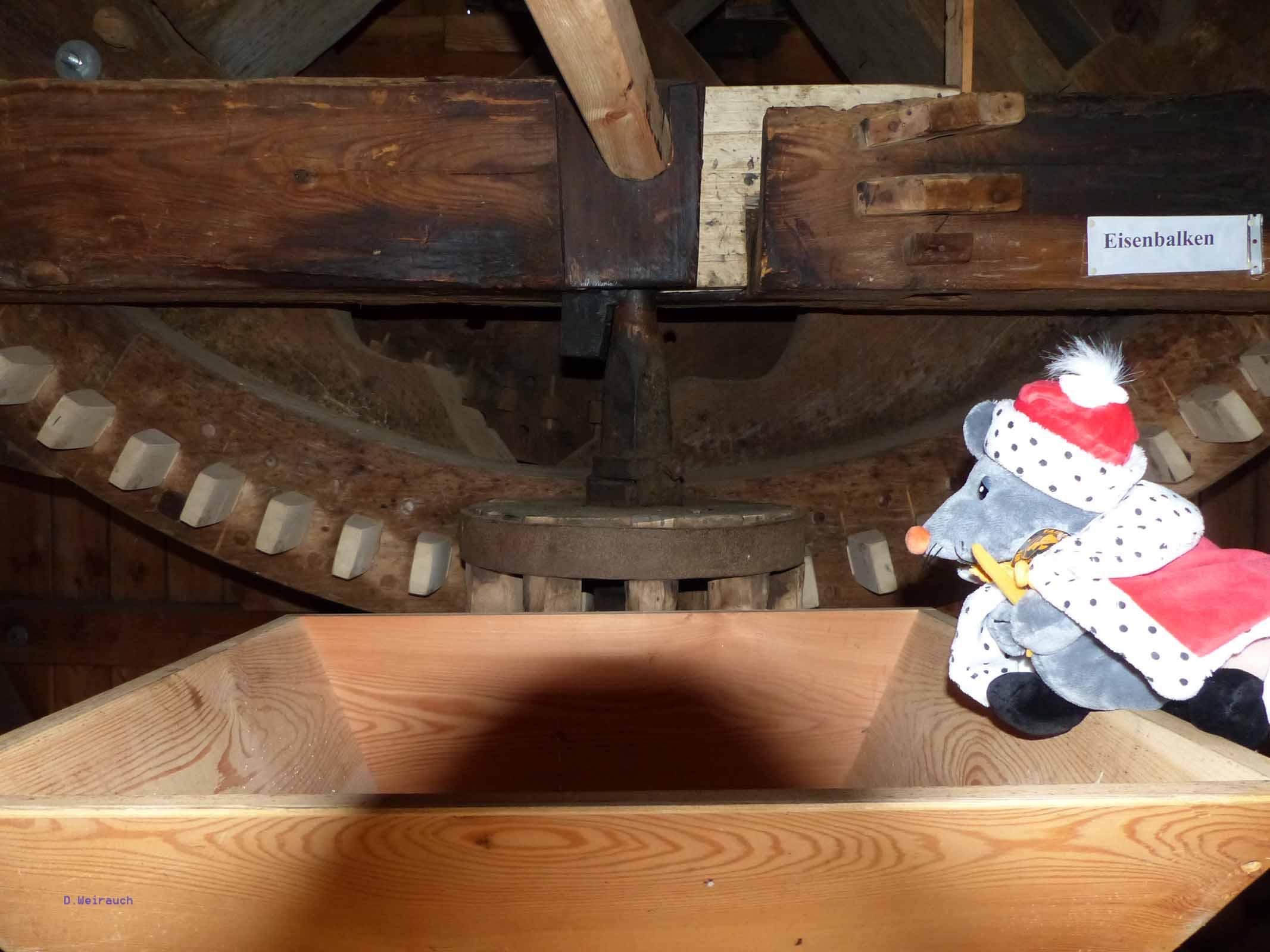 Detail in der Bockwindmühle von Borne im Fläming