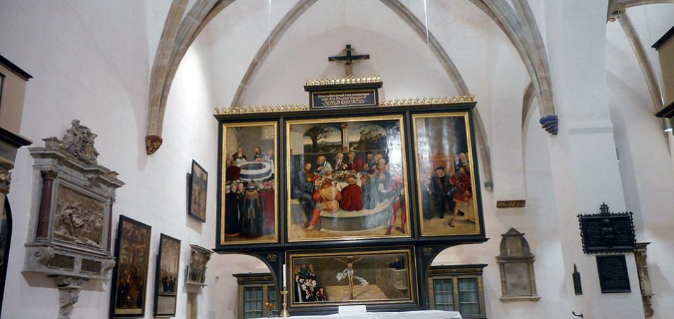 Der Cranach-Altar in der Stadtkirche von Wittenberg