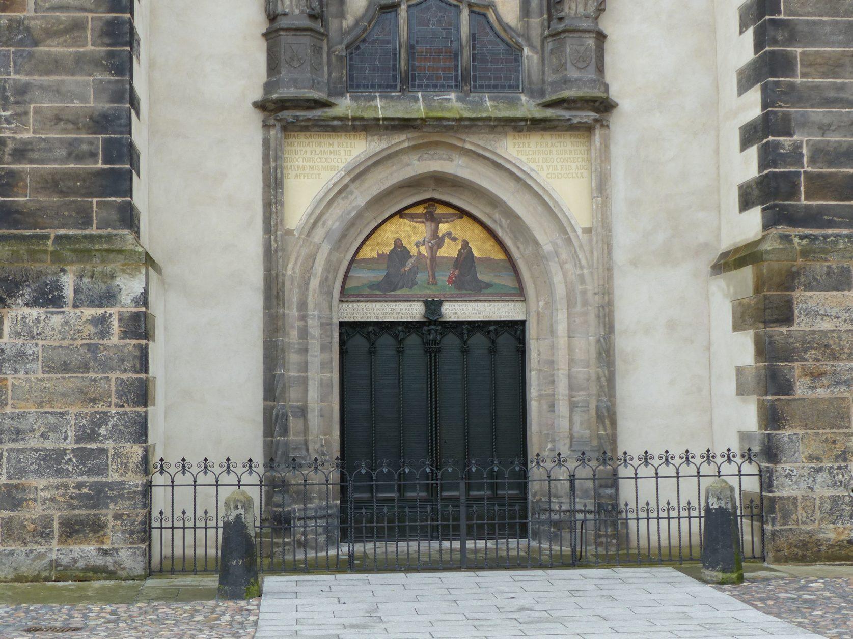Thesentür an der Schlosskirche in Lutherstadt Wittenberg, Foto: D.Weirauch