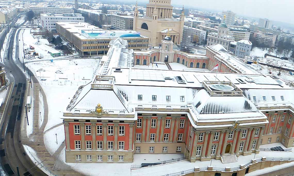 Stadtschloss Potsdam, vom Hotel Mercure aus aufgenommen,