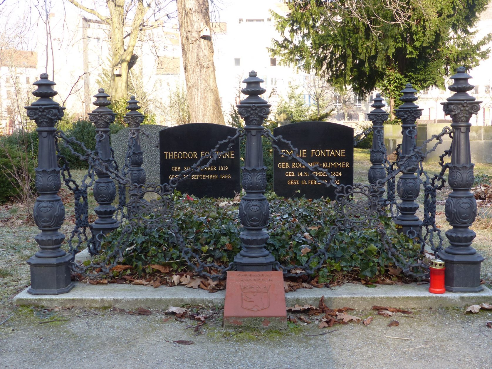Grabstätte des Ehepaars Fontane Friedhof Berlin