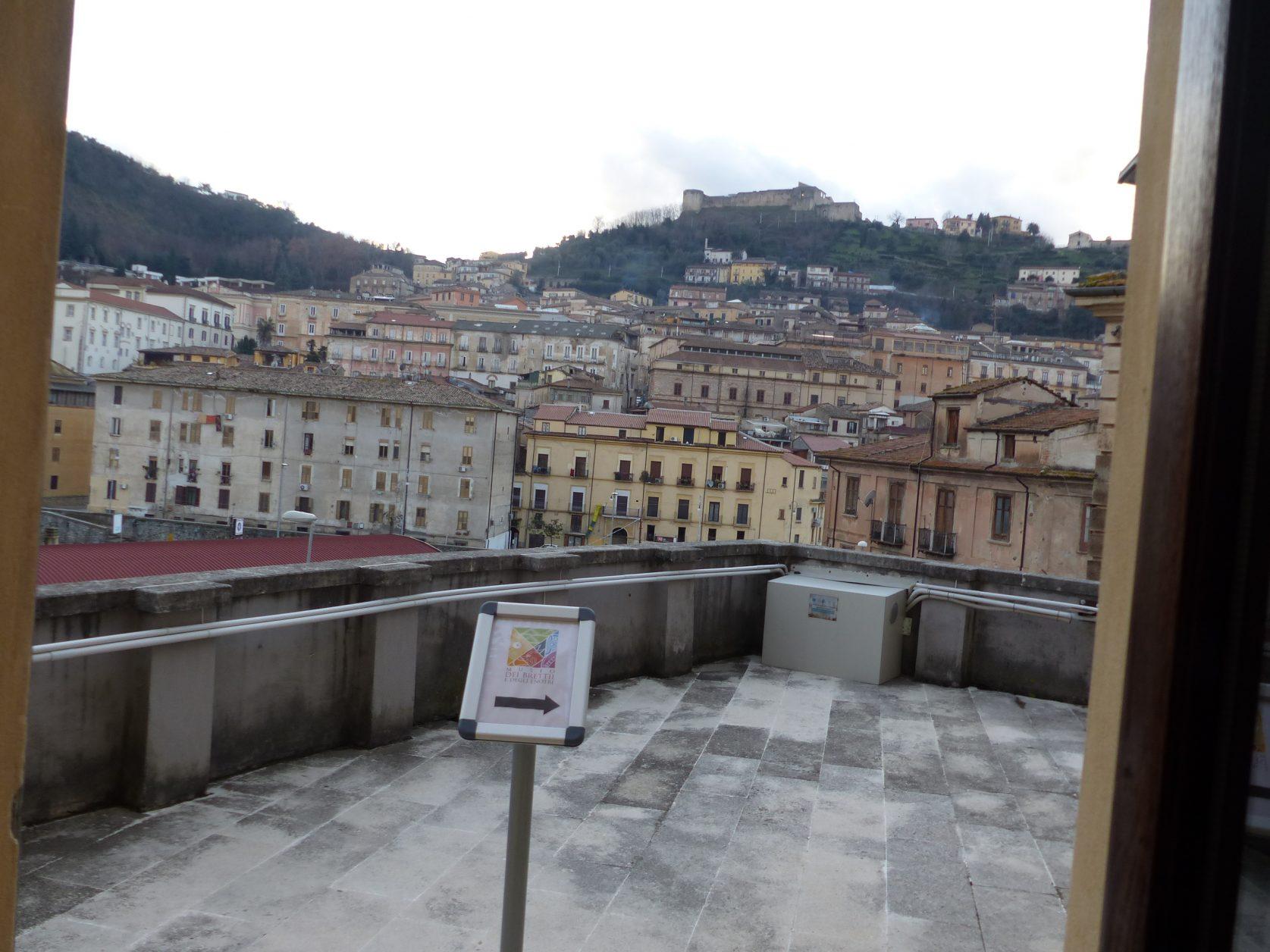 Blick auf das Schloss von Cosenza
