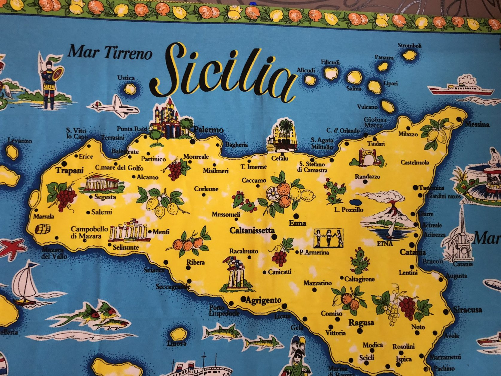 Sizilien Karte
