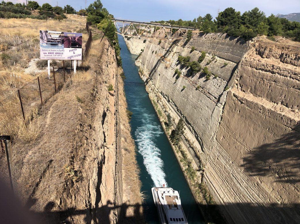 Kanal von Korinth Griechenland