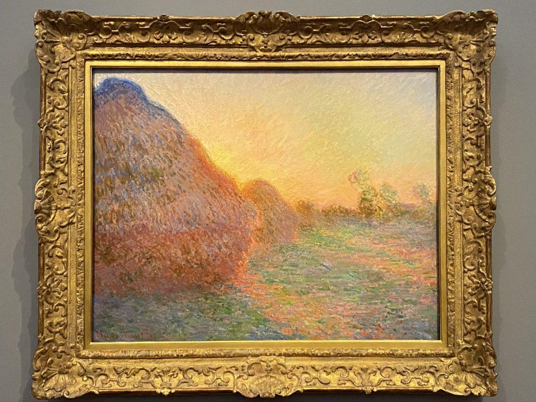 Monets berühmter Heuschober, das Bild wurde für 111 Millionen Euro ersteigert Foto: Weirauch