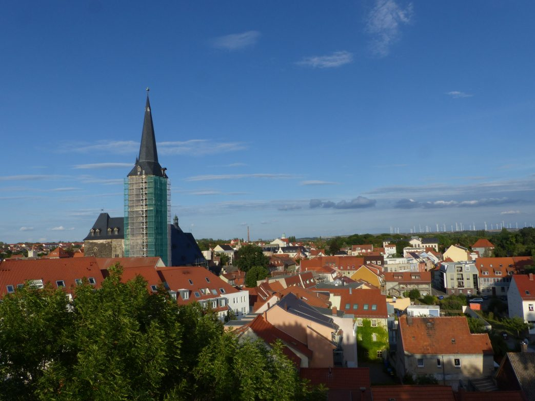 Blick auf die St.-Stephani-Kirche