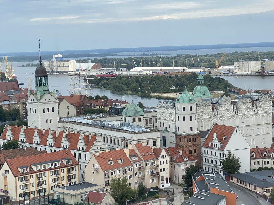 Blick über Stettin