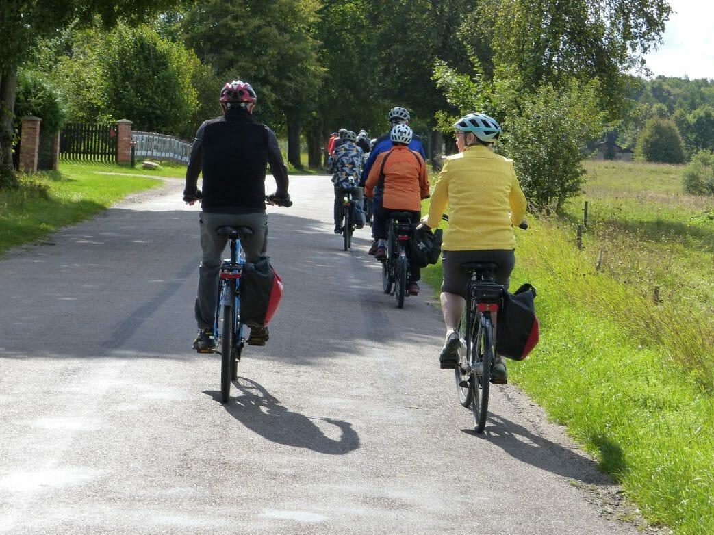 Fahrrad in Gruppe