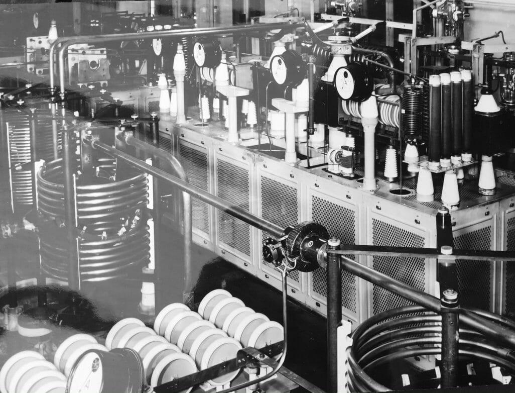 Mittelwellensender in der Funkstelle Königs Wusterhausen, 1928, Foto: M. Dummer/Archiv Weirauch