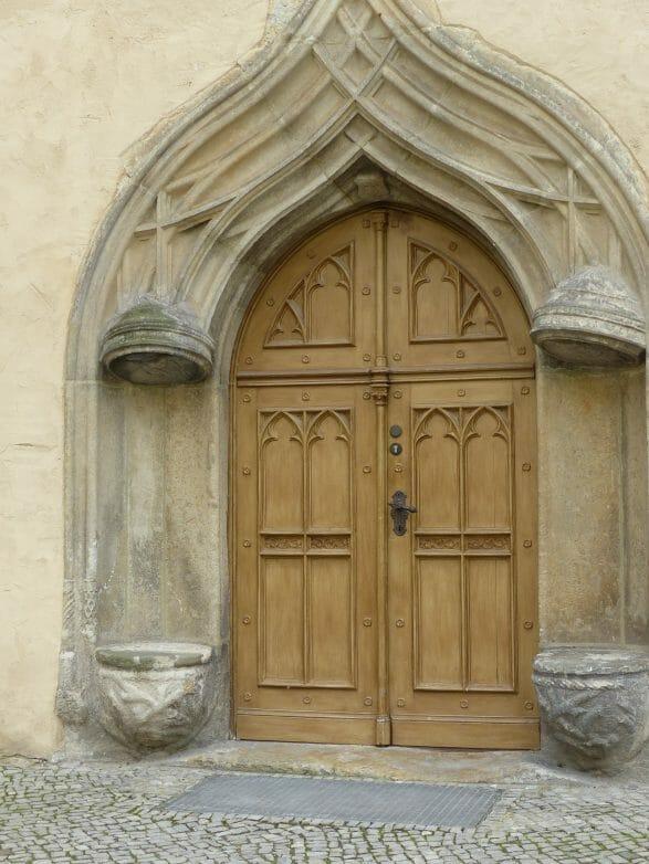 Durch diese Tür soll auch Martin Luther gegangen sein
