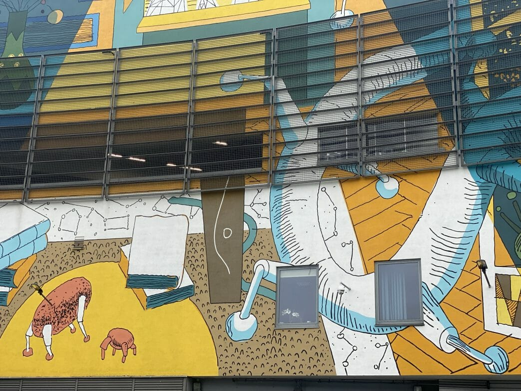 Wandbild (Mural) für Lem an der Galeria Krakowska