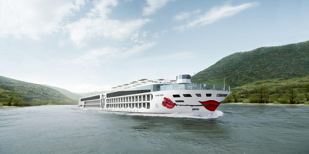 A-ROSA SENA auf dem Rhein. Grafik: A-ROSA Flussschiff GmbH