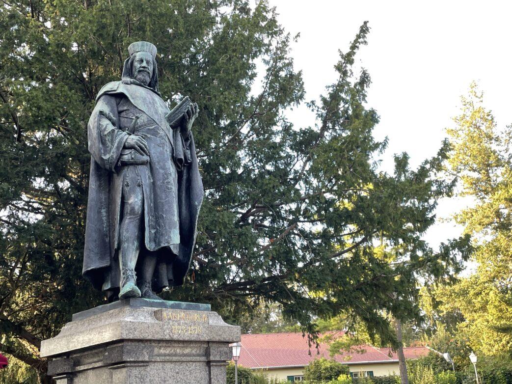 Denkmal für Kaiser Karl IV. auf dem Burgberg