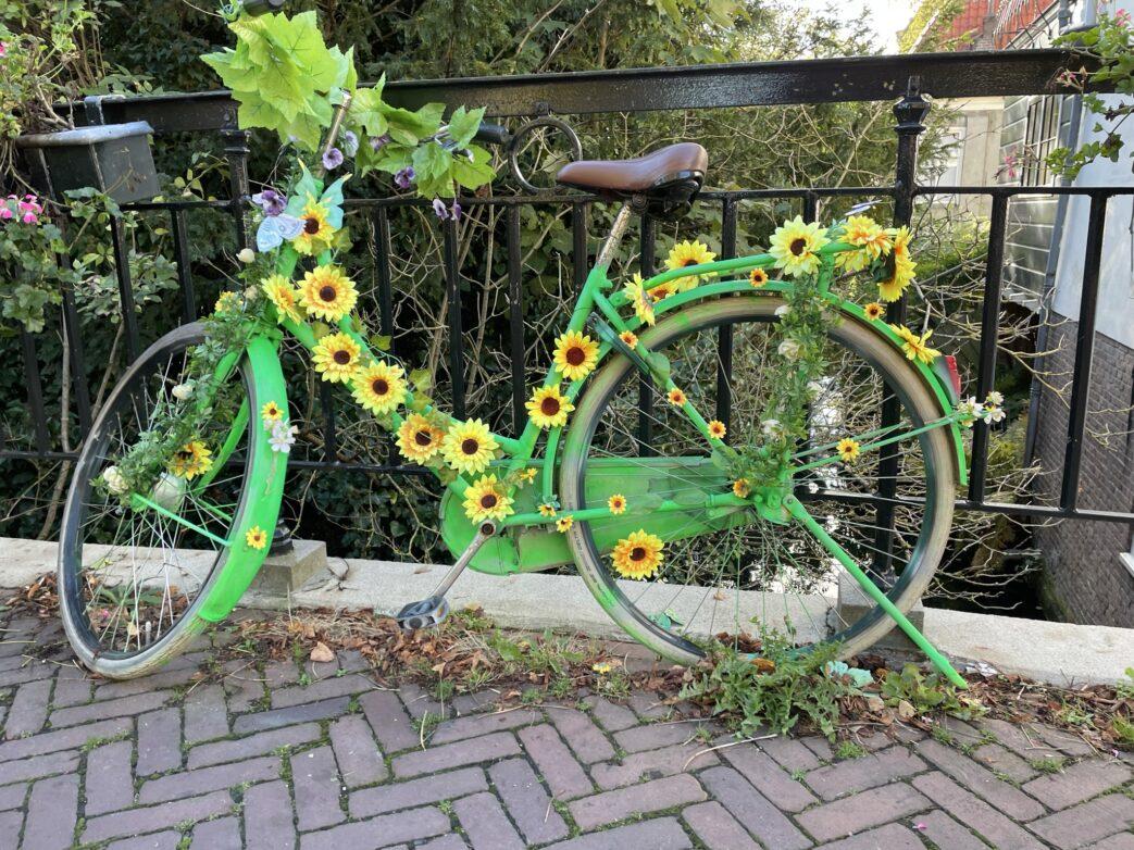 Schmucke Fahrräder an den Brücken